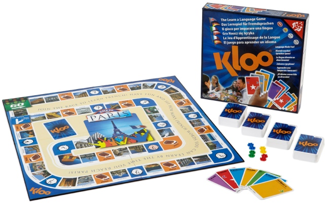 Learn French with KLOO Race to Paris Board Game