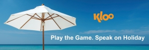 Play KLOO and learn a language on holiday